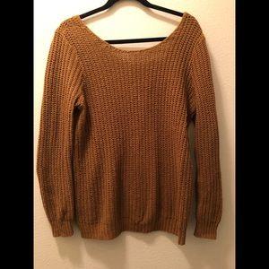 Mustard V-Back Sweater